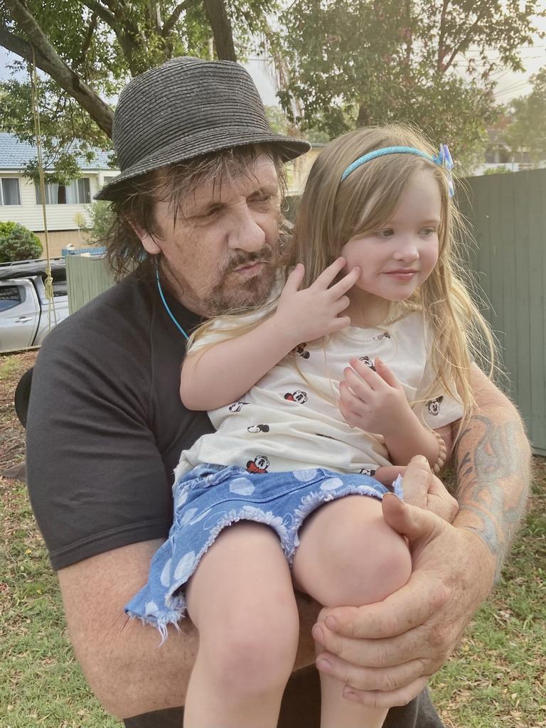 David Anderson with his granddaughter Meilani Anderson.