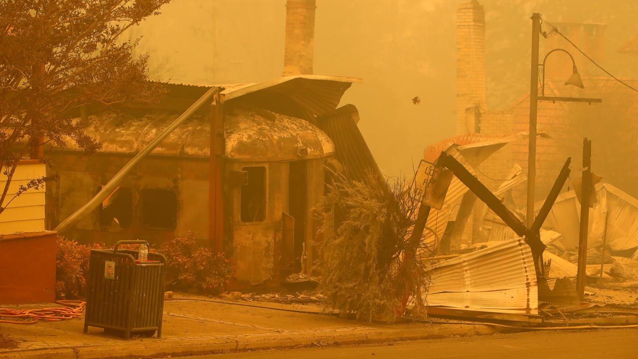 The main street of Cobargo after a fire ripped through the area. Picture: Stuart McEvoy/The Australian