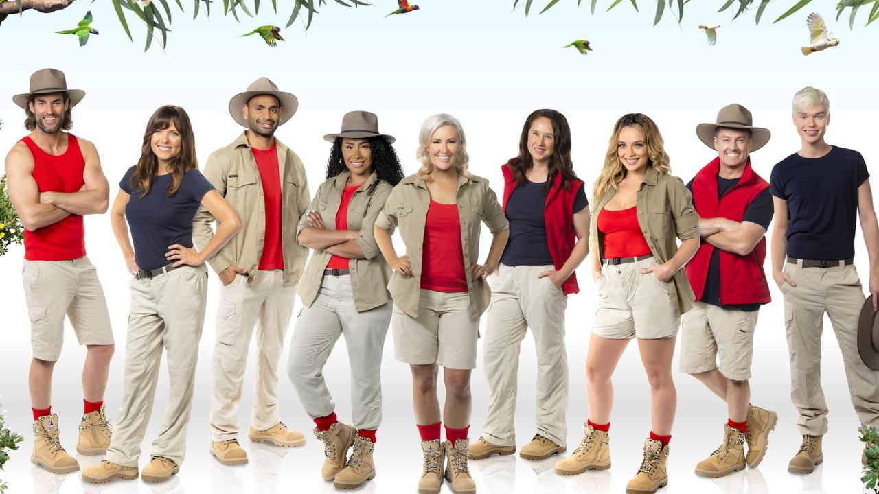 I'm A Celebrity...Get Me Out Of Here! season seven cast revealed: From left: Ash Williams, Toni Pearen, Travis Varcoe, Paulini, Jess Eva, Mel Buttle, Abbie Chatfield, Grant Denyer and Jack Vidgen