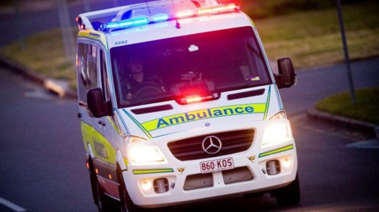 Paramedics transported a man to hospital after a single vehicle crash at Bowen.