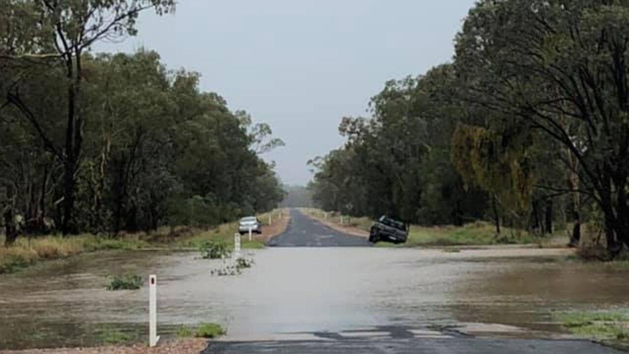 IF IT'S FLOODED FORGET IT: Tara Kogan road flooded on Monday, January 4. Pic: Nich Eddo