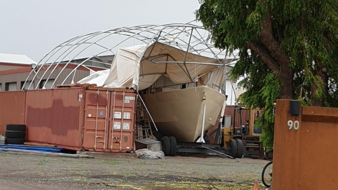 Cyclone Imogen caused plenty of damage at Karumba. Picture: Rose Bouwens.