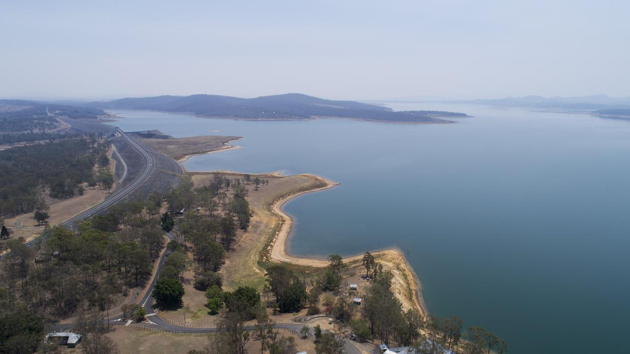 Cormorant Bay at Wivenhoe Dam on November 20, 2019, when the dam level was about 47 per cent. It is currently at 38 per cent.