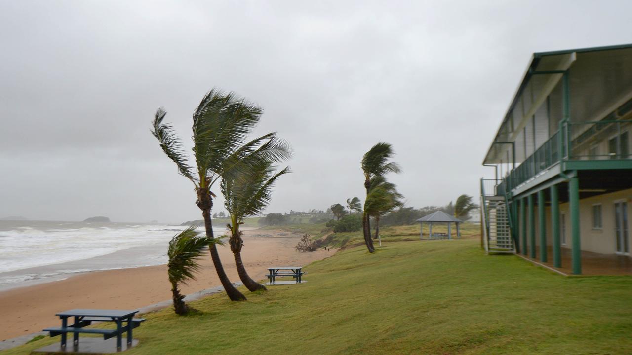 Emu Park's coastline in stormy weather.