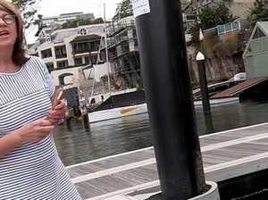 Elite Sydney 'Karen' threatens fisherman