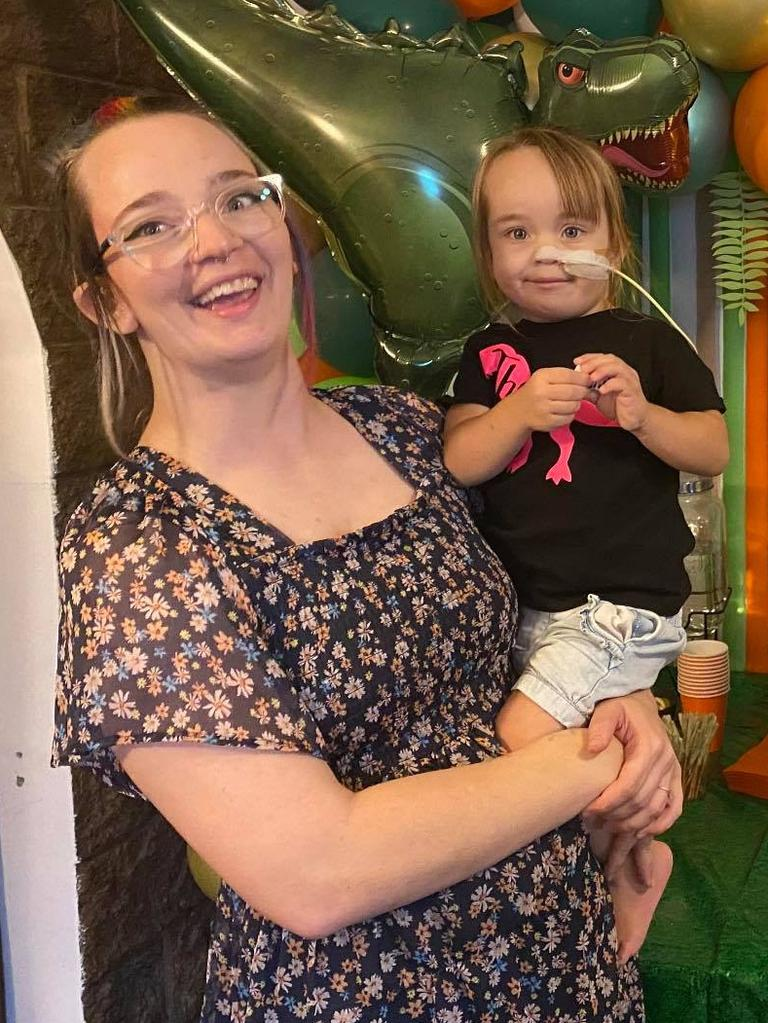 North Mackay resident Colleen Cooper and her daughter Layla Bonham. Layla was born without kidneys and therefore needs nightly dialysis treatments. On Boxing Day 2020 Layla was added to the kidney donor waitlist.