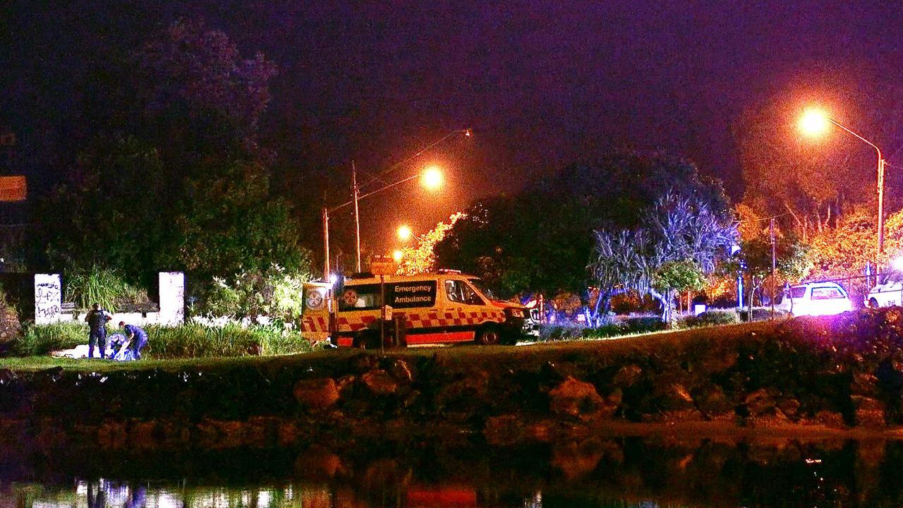 Paramedics at the scene. Photo by Frank Redward.