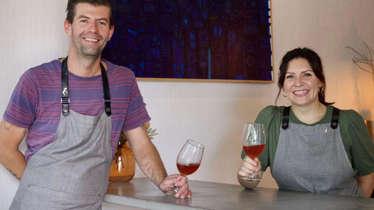 Sam Gray-Jones and Madeleine Campbell have hit the ground running with their new wine bar in Noosa called Theo's Social Club.
