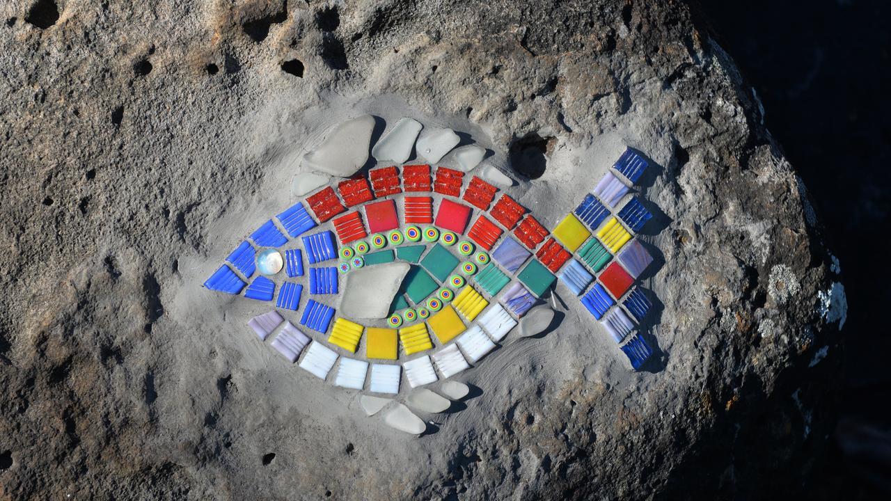 A fish mosaic artwork at Bargara.