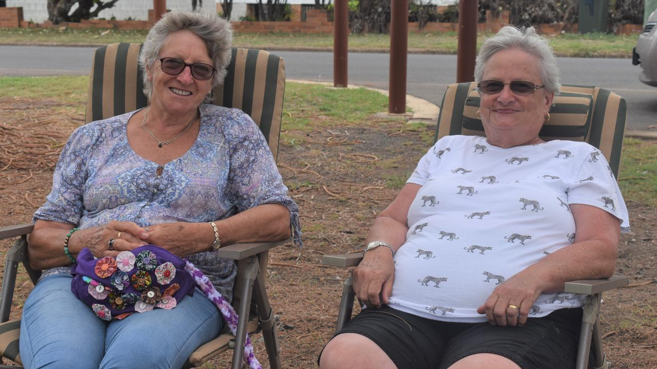 Veronica Atkins and Bev Hall from Goombungee and Toowoomba take a relaxing break at Bargara. Picture: Crystal Jones