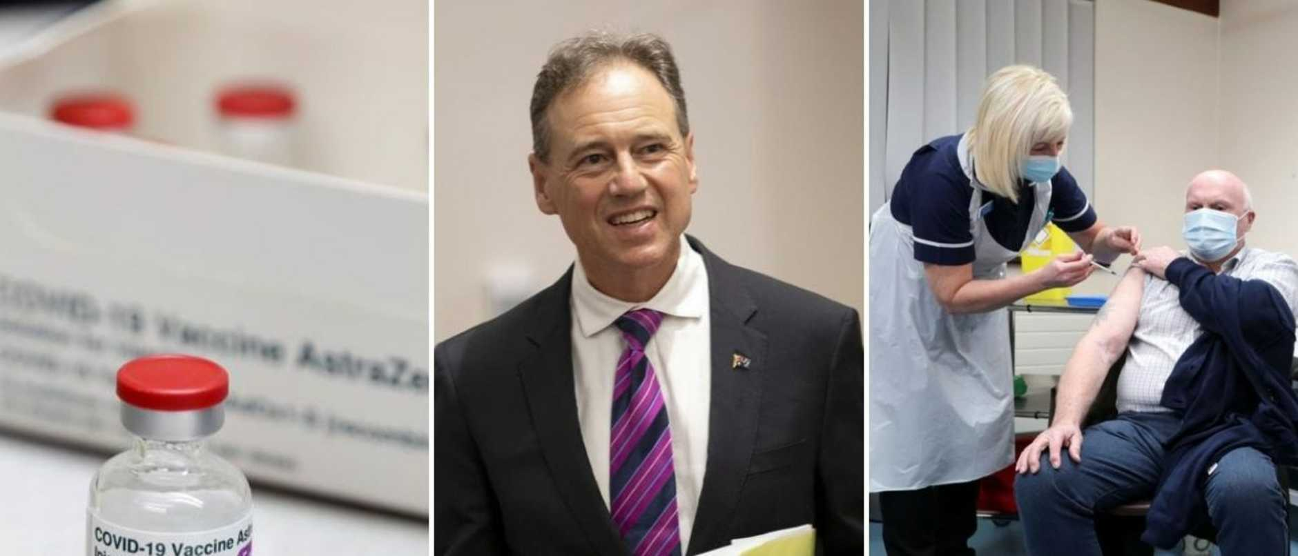 Health Minister Greg Hunt has revealed the government's ambitious schedule to roll out the coronavirus vaccine across Australia.