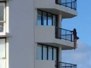 'Foolish' balcony stunt leaves police furious