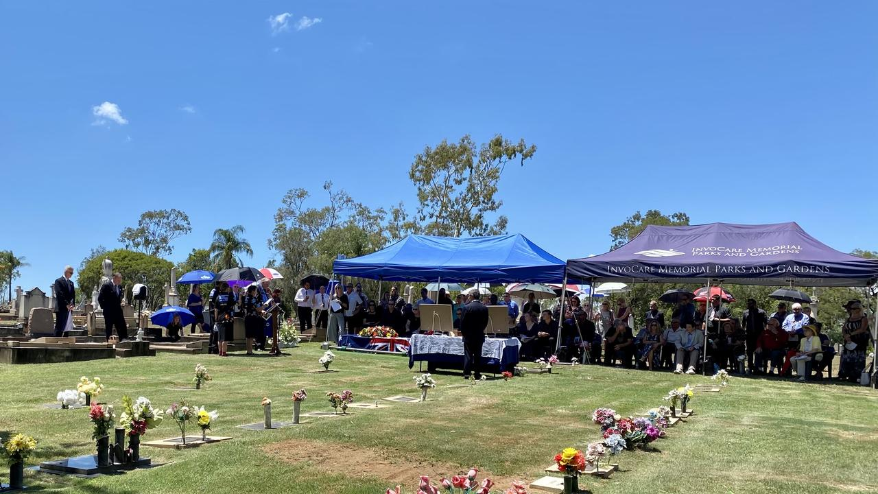 Family, friends and the Lockyer Valley community gathered to farewell icon Greg Steffens who passed away in late 2020. Photo: Hugh Suffell.