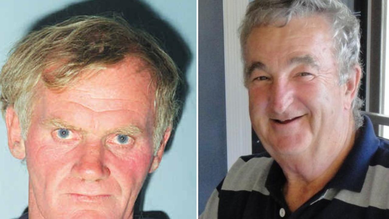Serial killer Leonard John Fraser (left) and former Rockhampton CIB boss Geoff Barton.