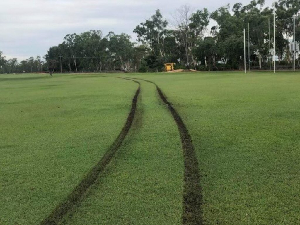 Moranbah police are investigating wilful damage caused by vandals at the Moranbah AFL field between December 30-31, 2020.