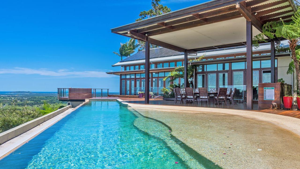 See inside this incredible estate that not only has the best views money can buy in Byron Bay, but also features a rainforest, bike track and an insane pool.