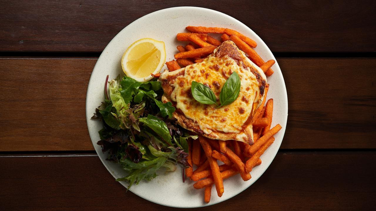 New Year health kick? The Bavarian is serving naked chicken parmas during January. Picture: Contributed