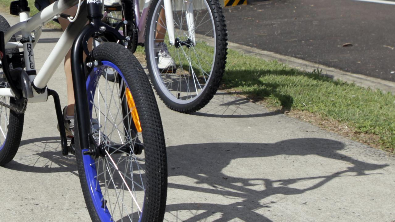 A bike rider has been injured in a car crash.