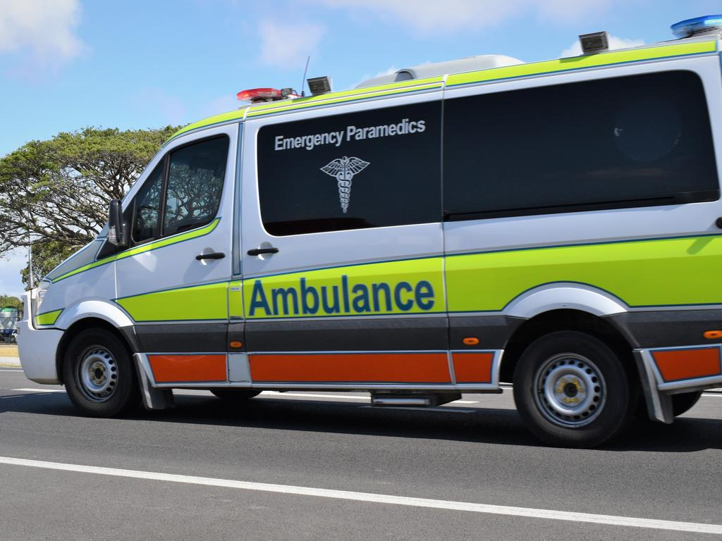 Three people are being assessed for injuries after a three-vehicle pileup at Tanawha this morning. Picture: Heidi Petith