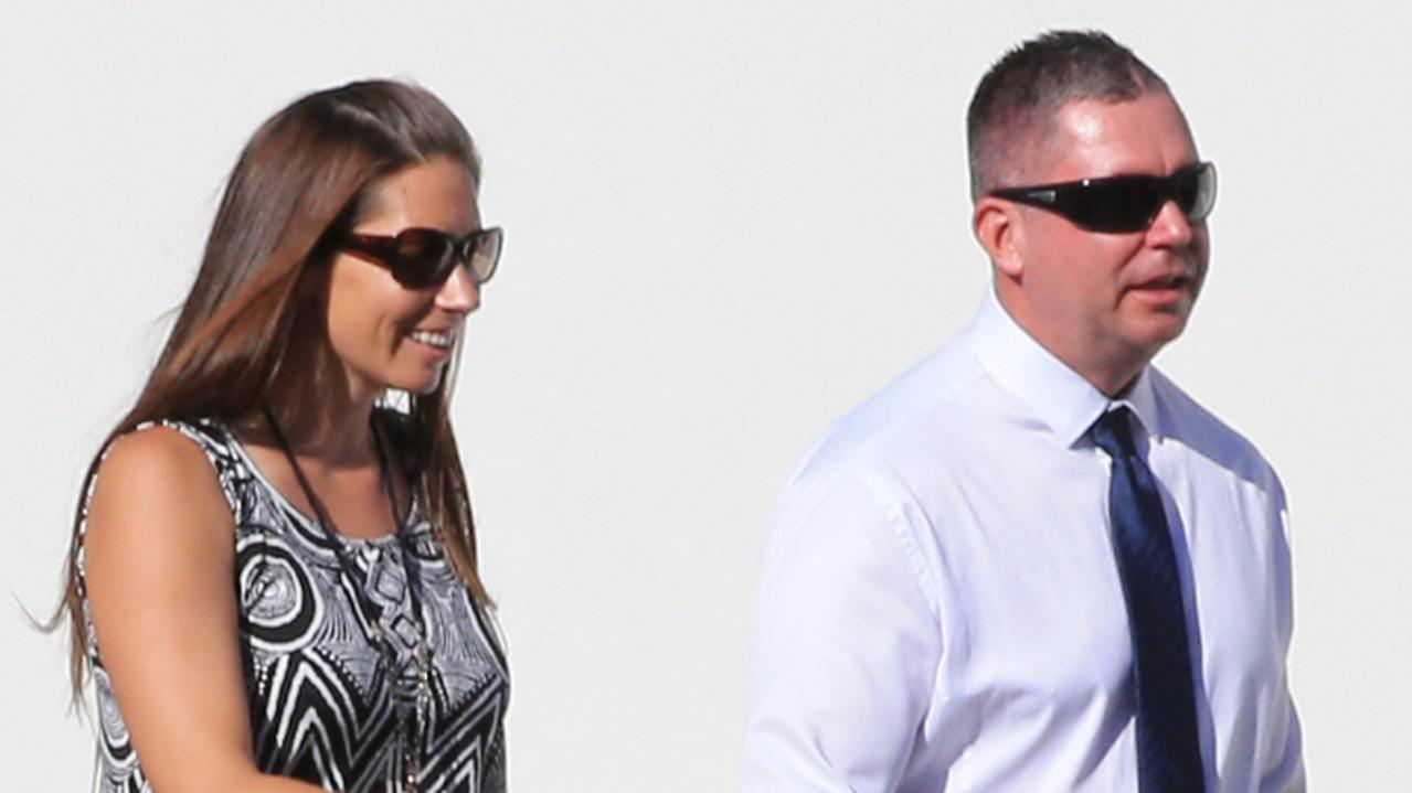 Sally and Jeffrey Tarbuck leave Maroochydore Magistrates Court after pleading guilty to importing peptides and human growth hormone. Photo Lachie Millard