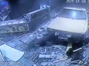 WATCH: Stolen ute ram-raids club, thousands in damages