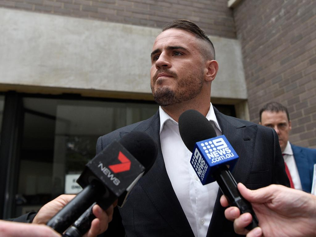 Josh Reynolds had domestic violence charges dropped after details of his former partner's past were revealed. Picture: AAP Image/Bianca De Marchi.