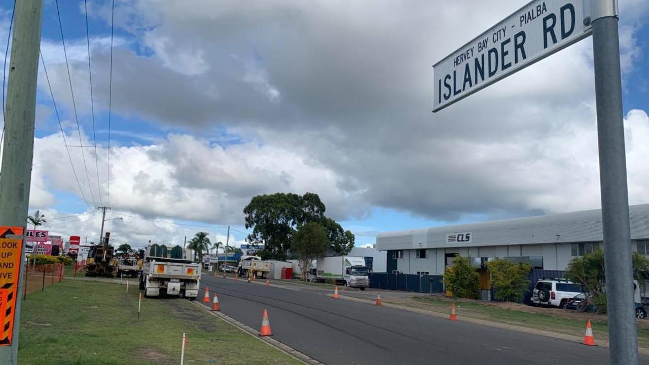 Work has started this week on a $240,000 upgrade to Islander Road in Pialba.