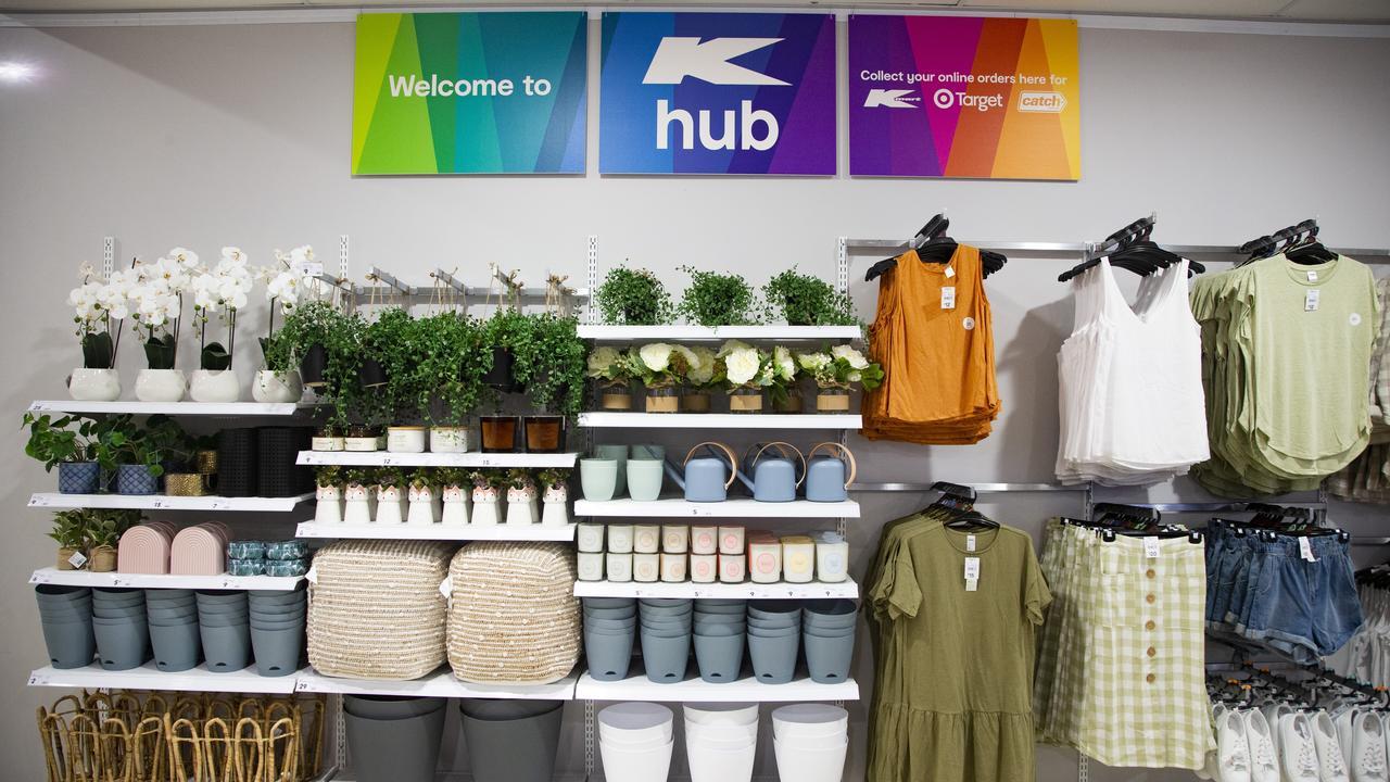 Stock in the already open Castlemaine K Hub. Picture: Kmart Australia