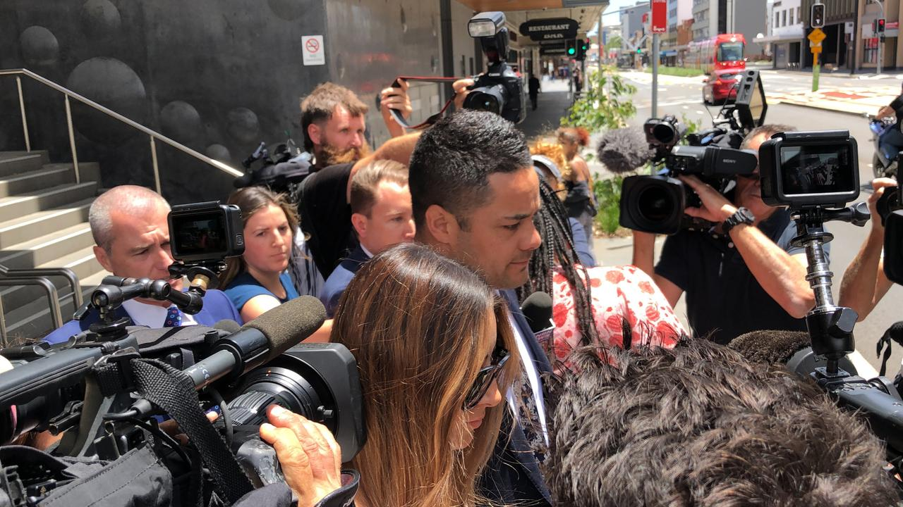 Jarryd Hayne was among numerous NRL players who fronted court in 2020. The jury was discharged in Hayne's sexual assault trial after being unable to reach a verdict. Picture: Heath Parkes-Hupton