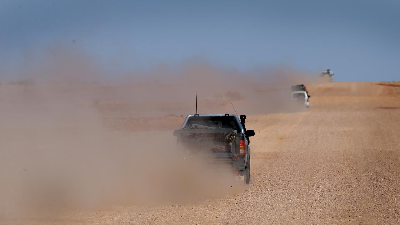 Hundreds of Victorians desperate to get home while avoiding New South Wales are taking on the 500km Birdsville Track on the long way home. Picture: Adam Head
