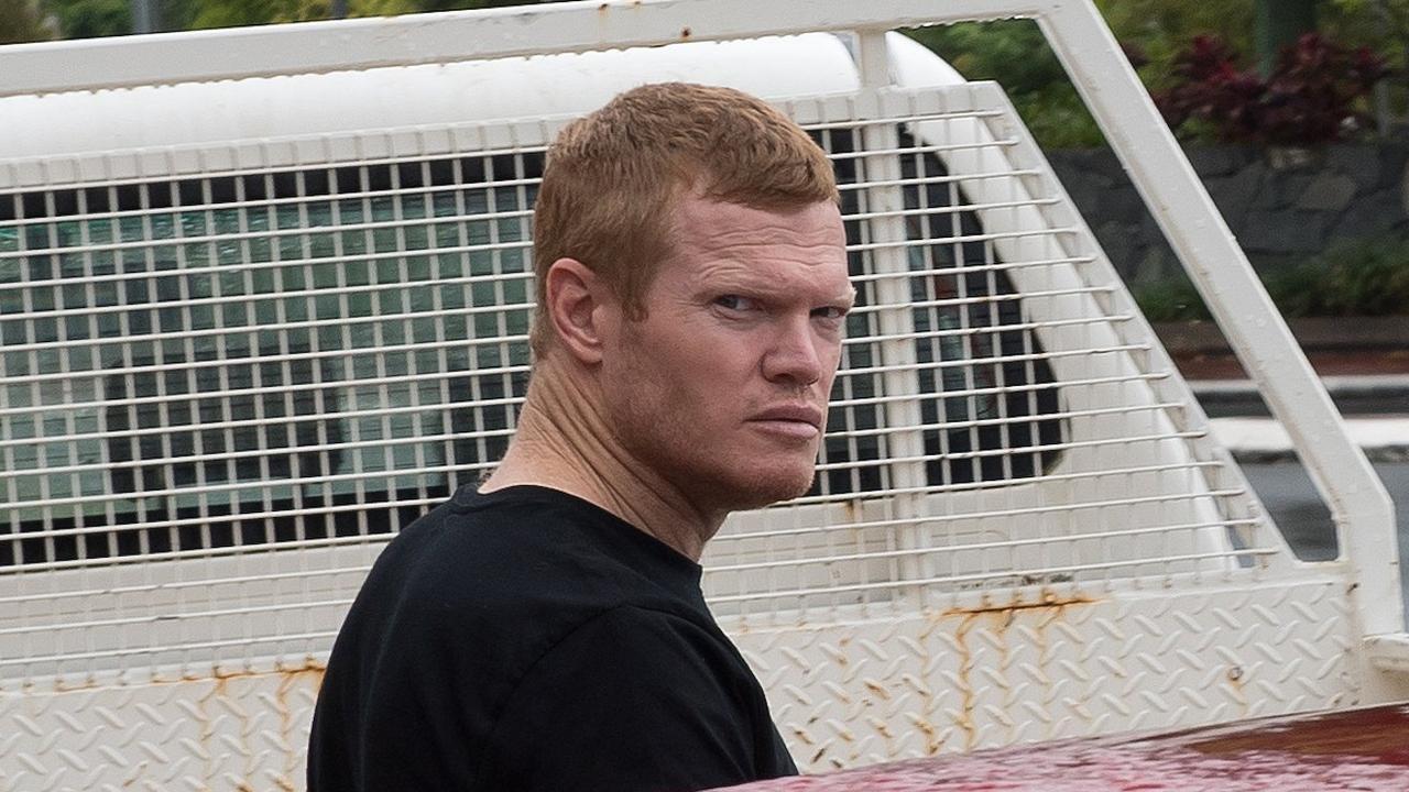 Former rugby league footballer Brett Dallas outside Mackay courthouse.