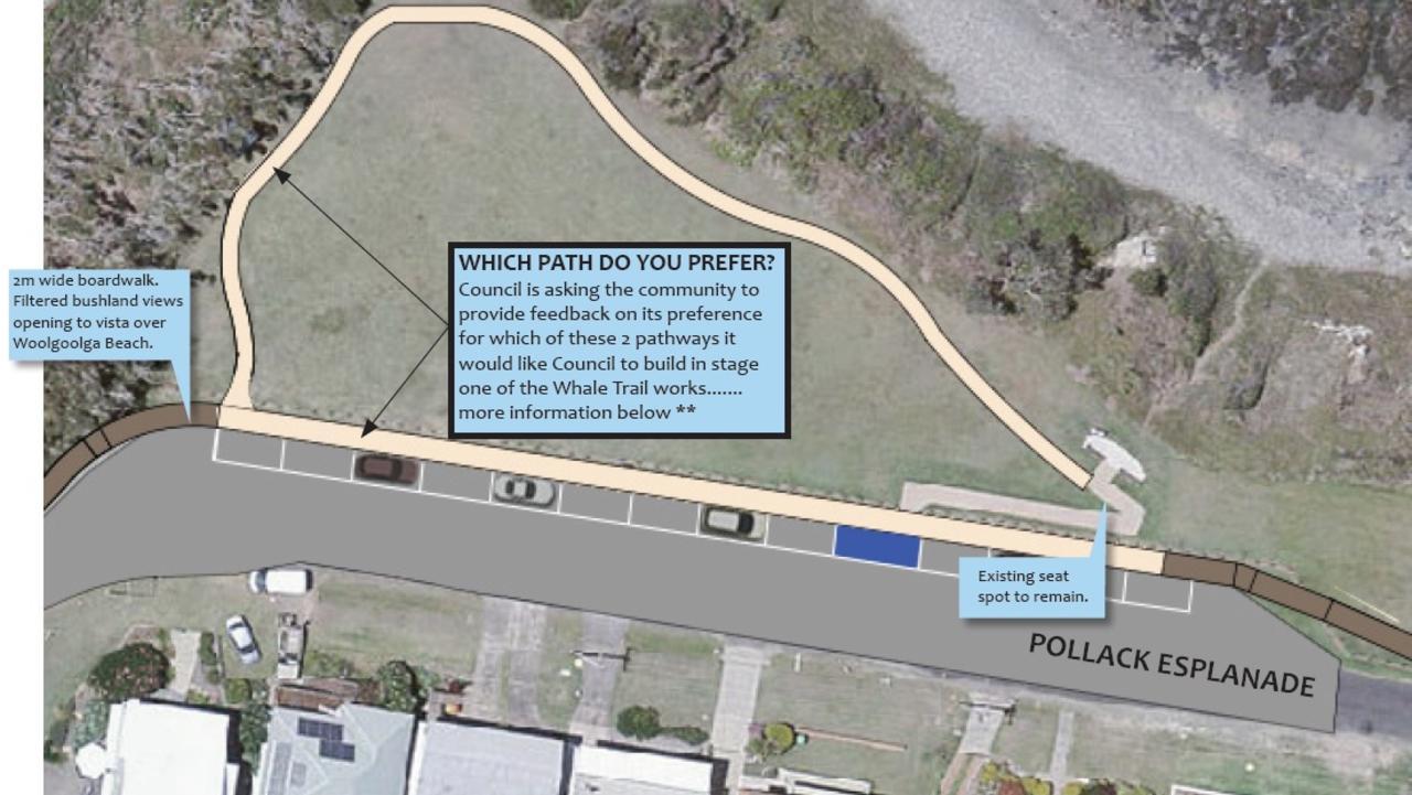 Concept designs for the $1.1m Woolgoolga Whale Trail. Coffs Harbour City Council.