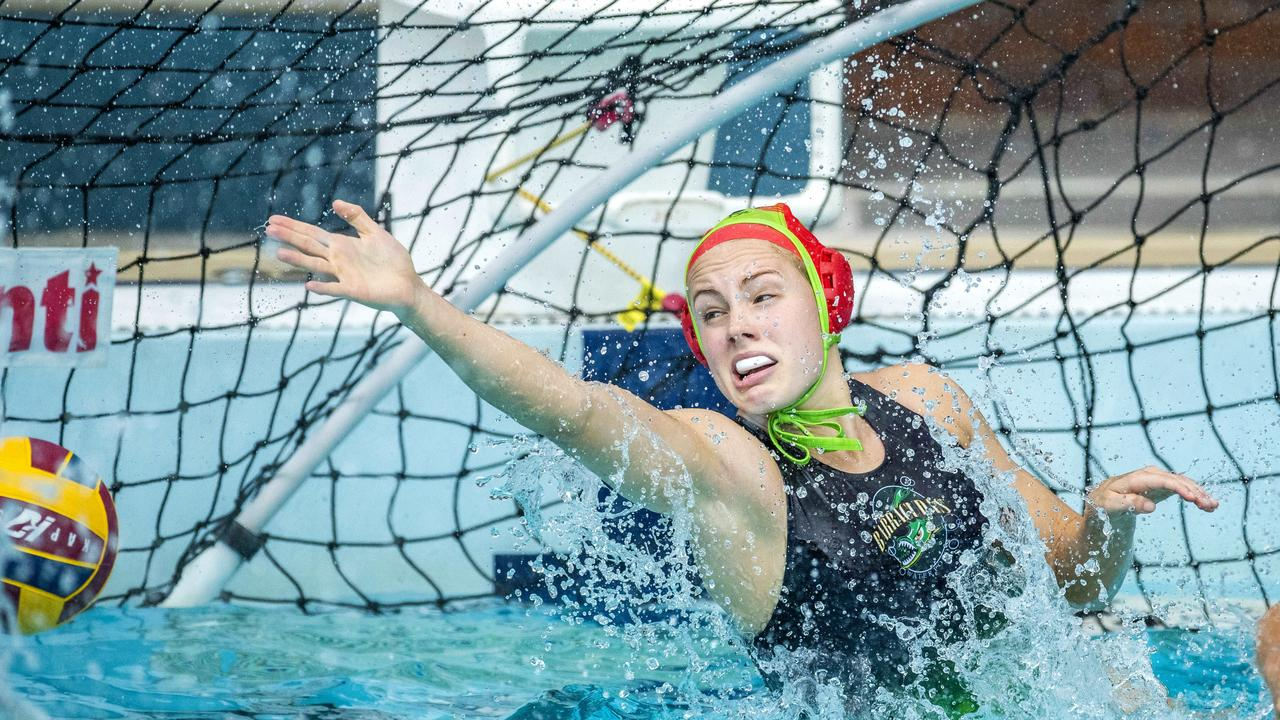 Gabi Palm in the Queensland Premier League Water Polo match between Barracudas and North Brisbane Polo Bears at Fortitude Valley Pool, Sunday, October 25, 2020 – Picture: Richard Walker