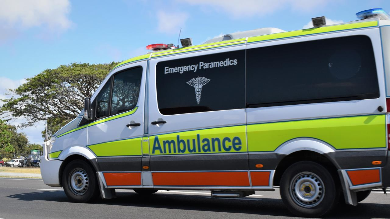 A Queensland Ambulance Service spokesman said five people were able to climb out of the vehicles involved in a crash at the intersection of Marian-Hampden Rd at 9.34am with no serious injuries. Picture: Heidi Petith