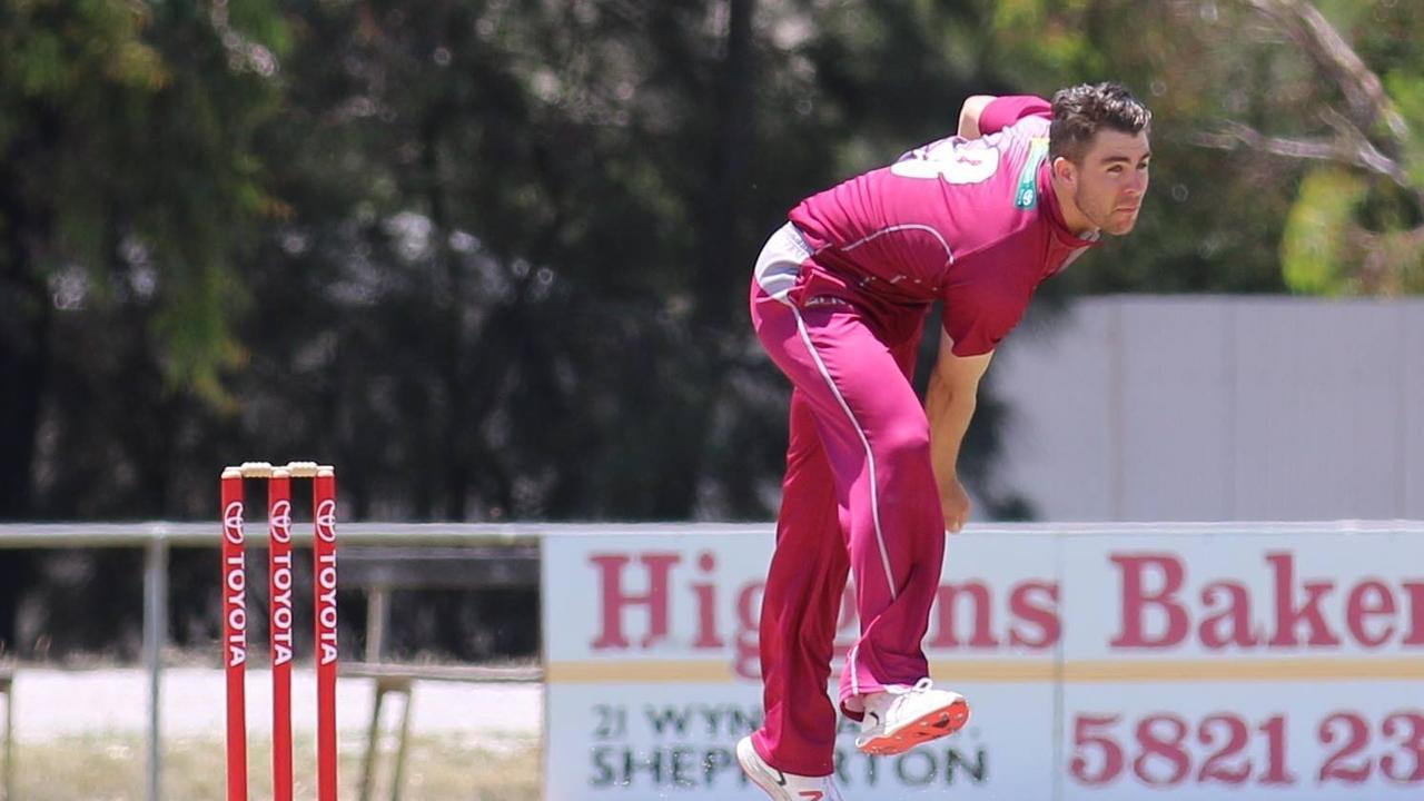 Mason Kohler bowls against West Australia on his Australian Country Cricket Championships debut in 2019. Photo: File
