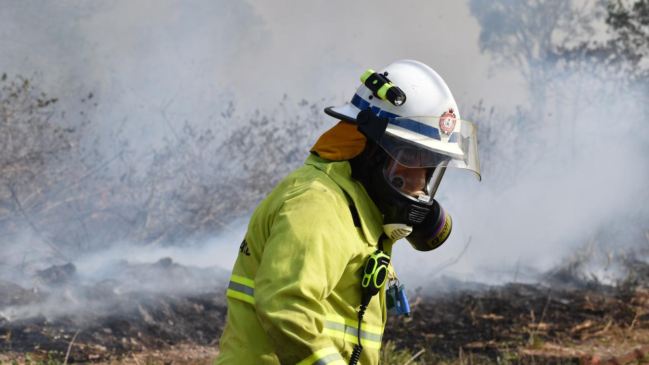 A rural fire crew is assisting with a blaze in bushland at Farnborough, north of Yeppoon, on Thursday afternoon. FILE PHOTO.