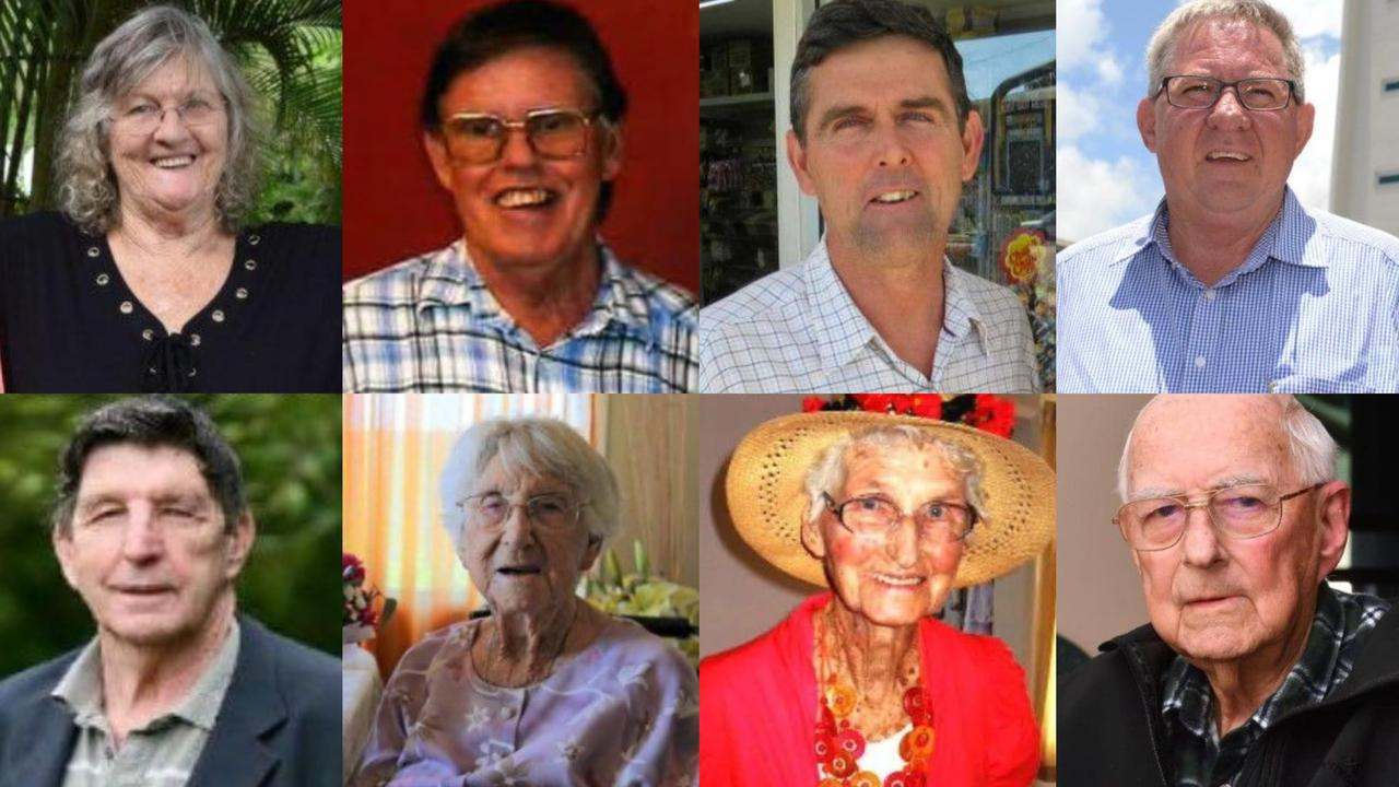 These are the faces of some of the significant deaths in the Mackay region throughout 2020.