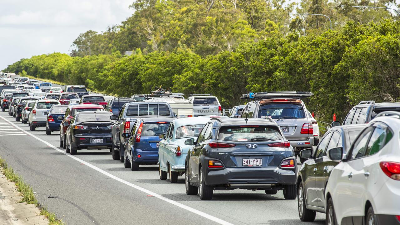 Traffic on the Bruce Highway through Caboolture. Picture: Richard Walker/File