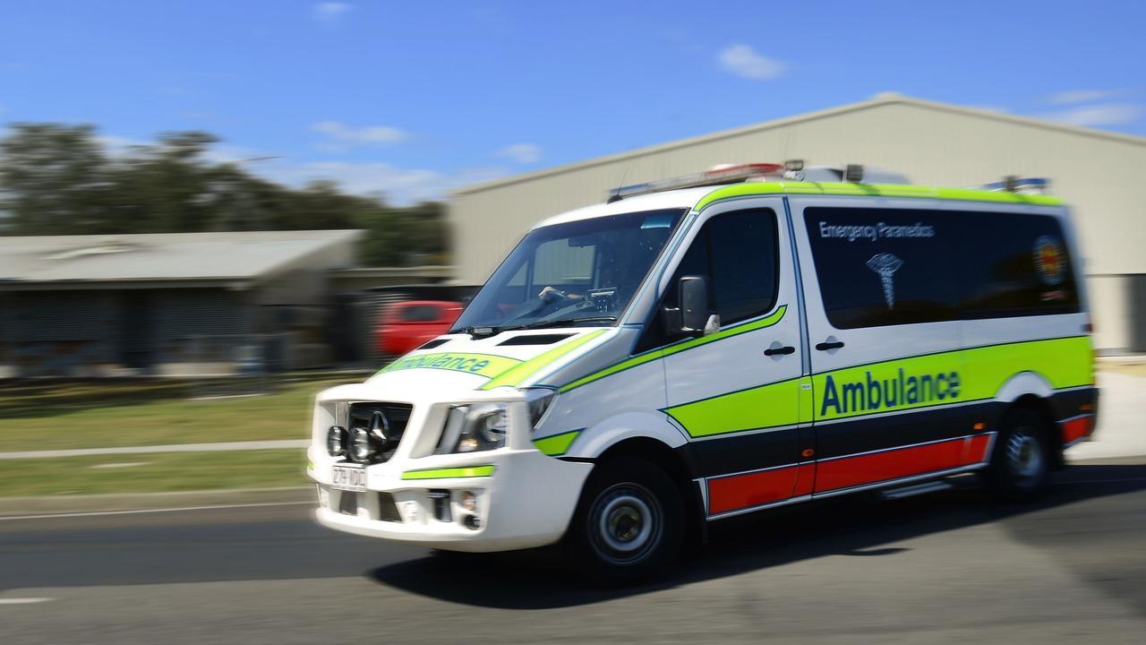 Paramedics were called to a crash at Landsborough.