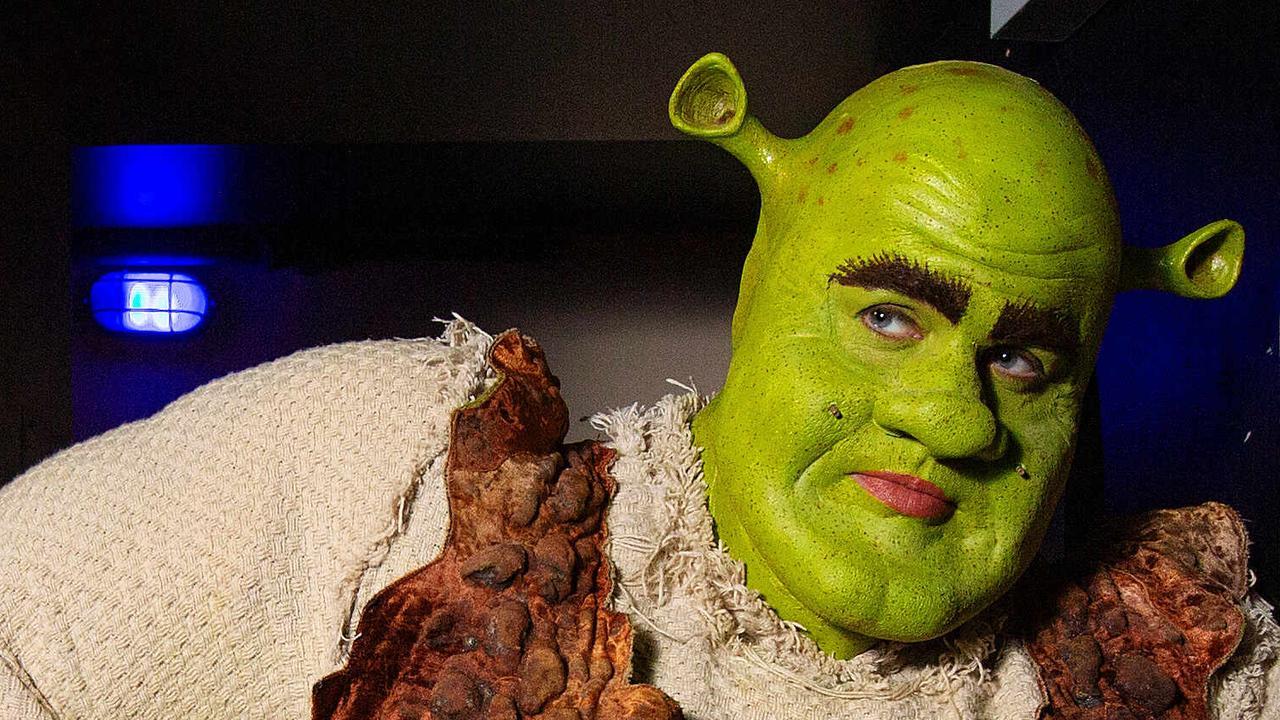 Actor Ben Mingay as Shrek. Picture: Mark Stewart