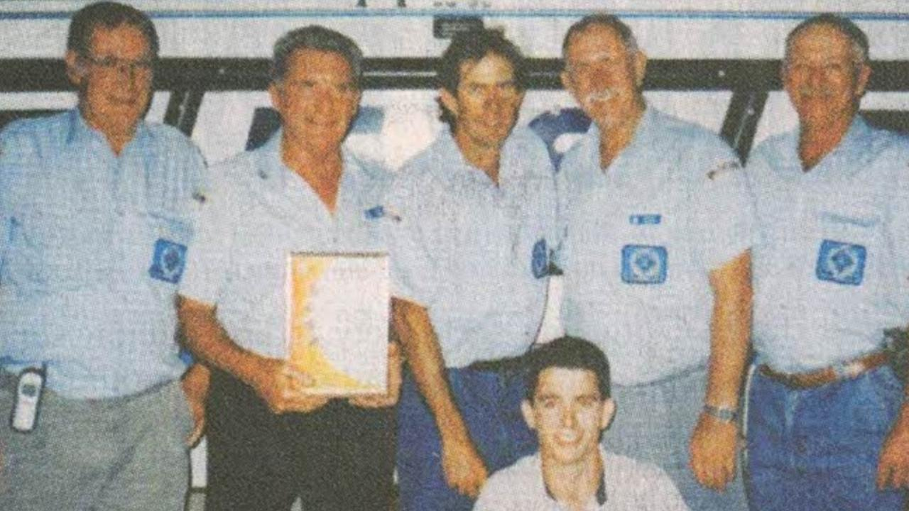 Bob Ford (second from left) when he was VMR Mackay president with Barrie Clarke, Russell McLennan (current president), Geoff Hildreth, Jack Muller and Lyal Moss (front).