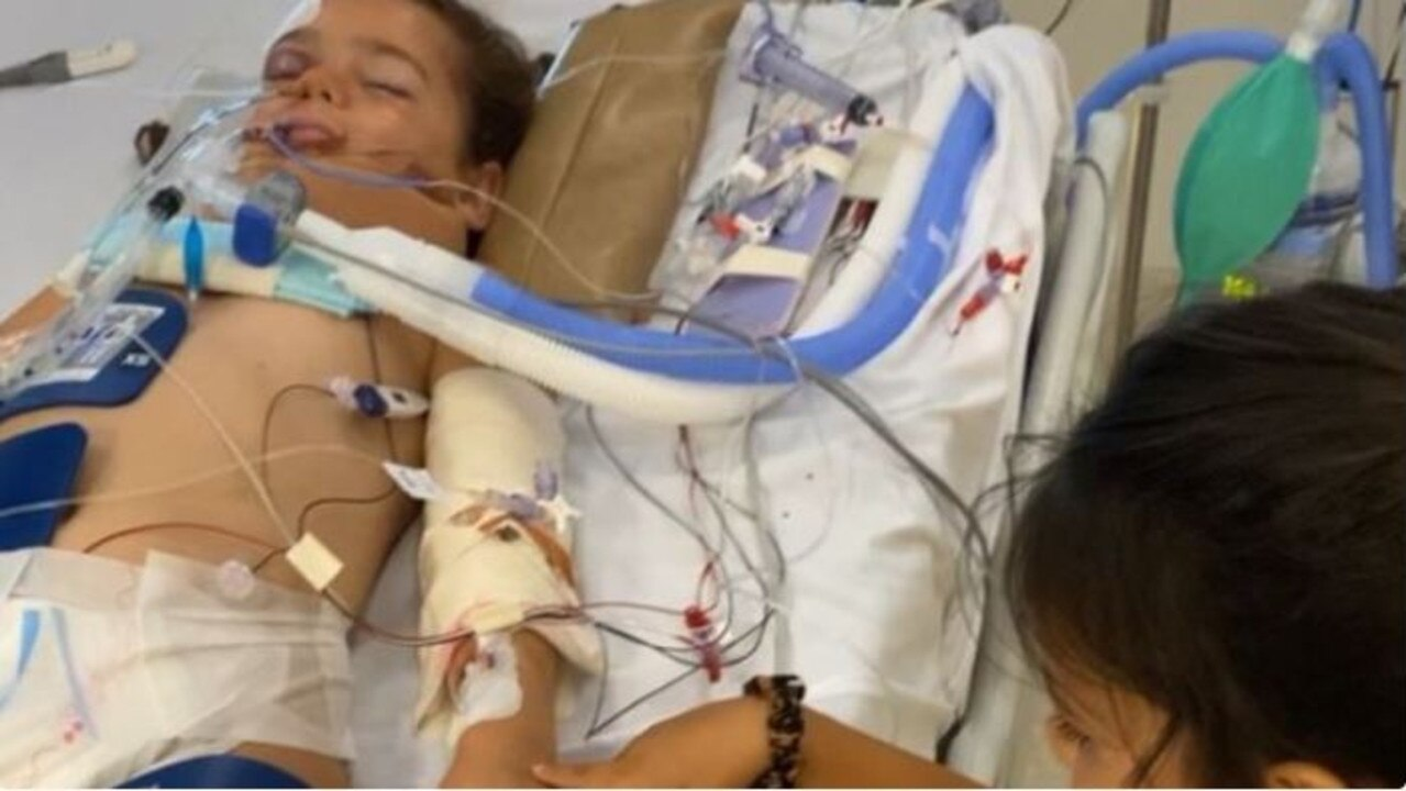 Eva, 7, was hit by a car in Evans Head and left in a serious condition in hospital.