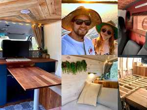 IN PICS: The couple flipping ordinary campers into glampers