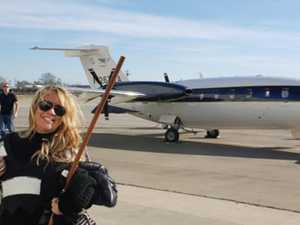 Woman took private jet to Trump protest