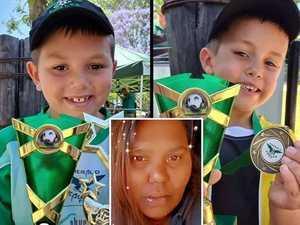 Mum of slain boys wakes from coma with 'broken heart'