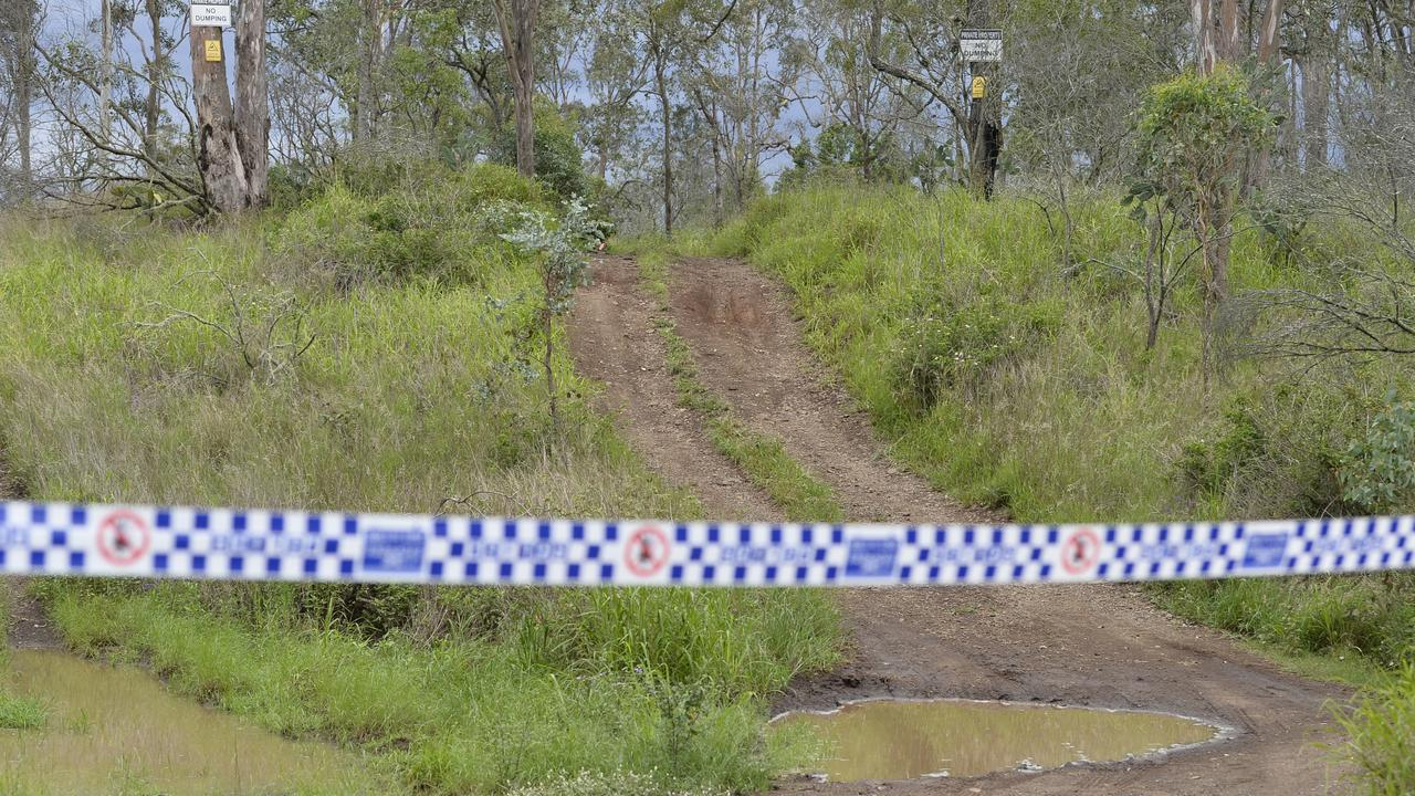 Police investigate a suspicious death in bushland near Preston, Thursday, January 7, 2021. Picture: Kevin Farmer