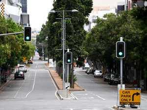 Eerie scenes inside Brisbane lockdown