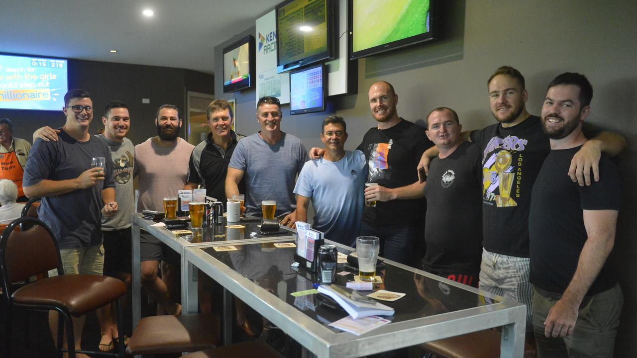 Wests Tigers senior rugby league players, staff and friends offered their patronage to the Western Suburbs Leagues Club on Saturday. Photo: Callum Dick