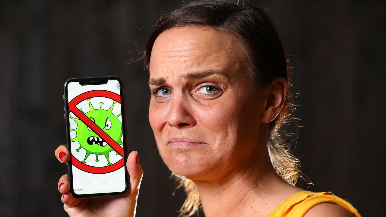 Jennifer Motsch with her phone which was found to be very clean. Pic Adam Head