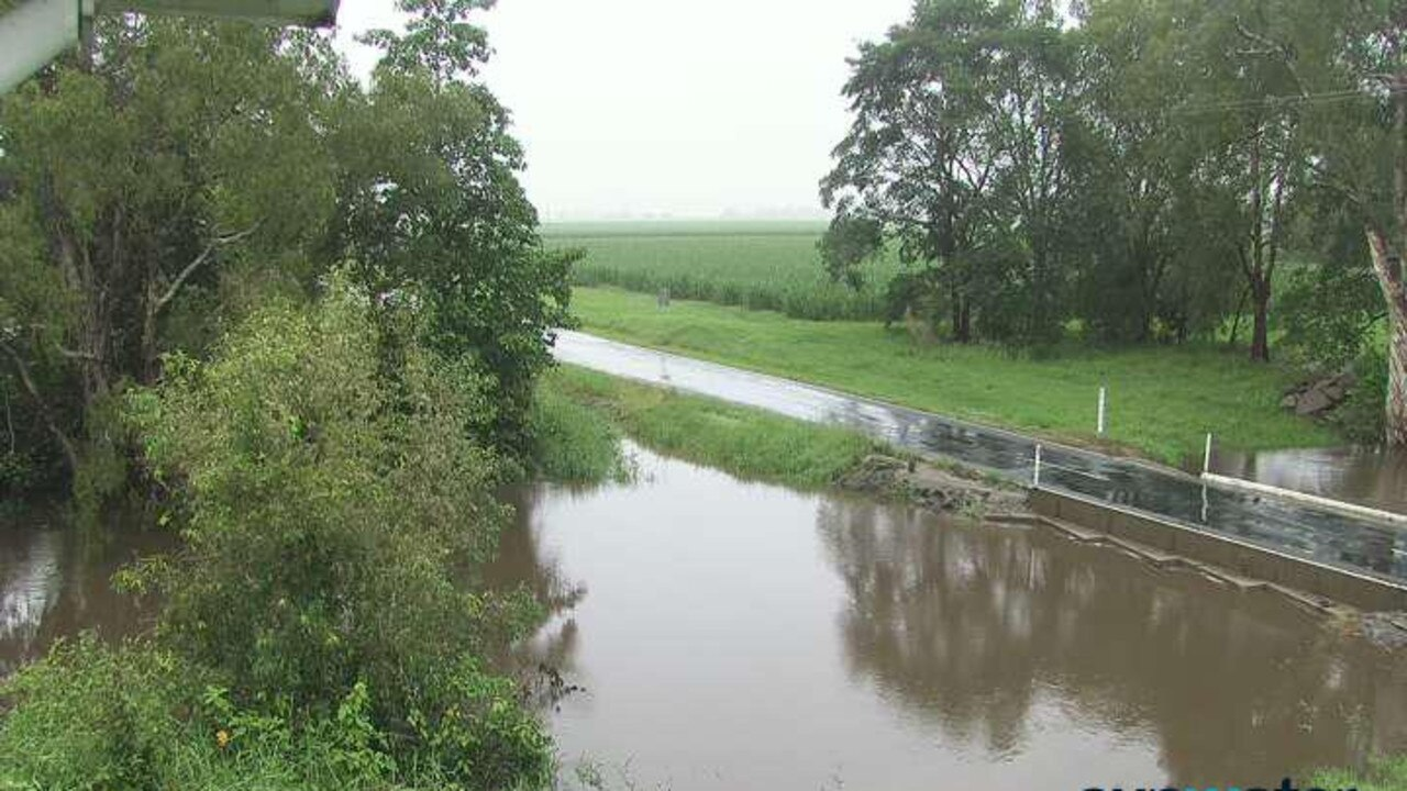 Heavy rain has caused flooding and road closures across the Mackay region. Antonys Crossing.